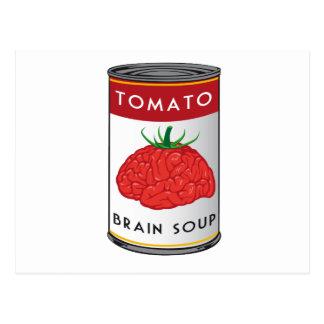 Carte Postale soupe à cerveau