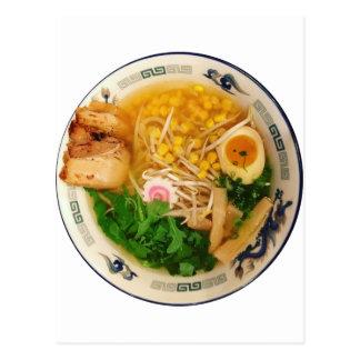 Carte Postale Soupe de nouilles de Ramen de porc