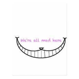 Carte Postale Sourire de chat de Cheshire