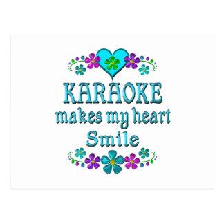 Carte Postale Sourires de karaoke