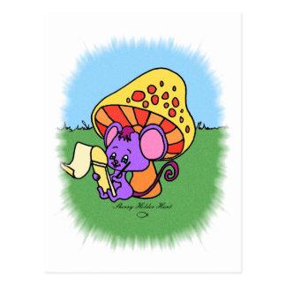 Carte Postale Souris de champignon