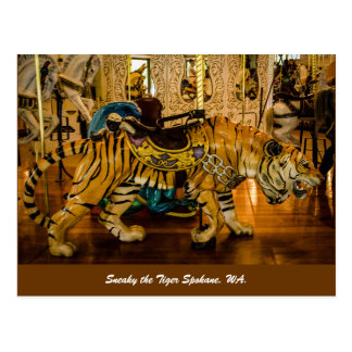 Carte Postale Sournois le tigre Spokane, WA.