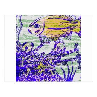 Carte Postale Sous l'aventure de l'eau