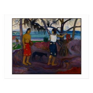 Carte Postale Sous le Pandanus, 1891 (huile sur la toile)