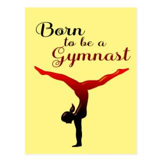 Carte Postale Soutenu pour être un gymnaste