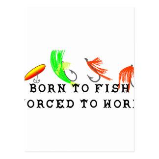Carte Postale Soutenu pour pêcher