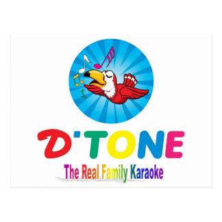 Carte Postale Souvenir de karaoke de famille de De Tone