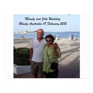 Carte Postale Souvenirs de Mandy et de John Weddding