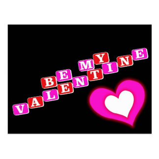 Carte Postale Soyez mon Valentine
