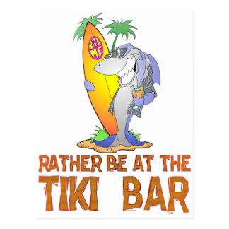 Carte Postale Soyez PLUTÔT au REQUIN de barre de Tiki