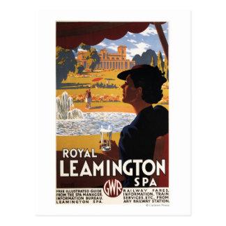 Carte Postale Spa royal, affiche de rail d'eau potable de femme
