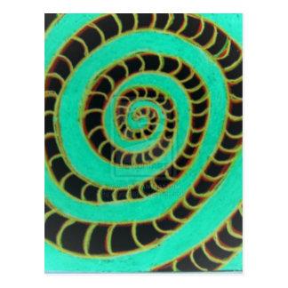 Carte Postale Spirale inversée de vert de chaux