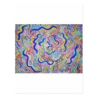 Carte Postale Spirale Twisty bleue