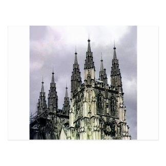 Carte Postale Spirales d'église de l'Angleterre Cantorbéry le