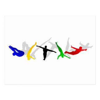 Carte Postale Sport élevé de plate-forme de tremplin de plongée