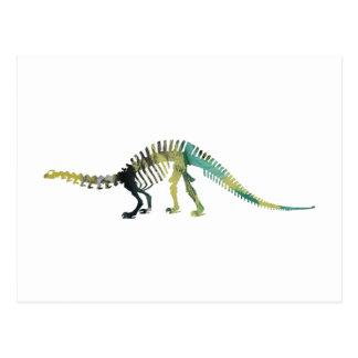 Carte Postale Squelette de dinosaure