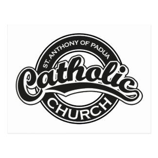 Carte Postale St Anthony de noir d'église catholique de Padoue