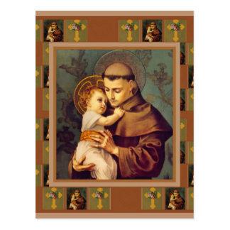 Carte Postale St Anthony de Padoue avec le bébé Jésus