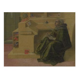 Carte Postale St Augustine dans son étude (predella du Barbad