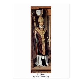Carte Postale St Blaise par Hans Memling