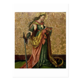 Carte Postale St Catherine de l'Alexandrie (huile sur le