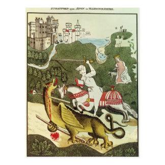 Carte Postale St George et le dragon