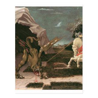 Carte Postale St George et le dragon ; Paolo Uccello ; c.1460