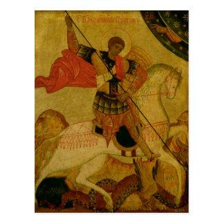 Carte Postale St George massacrant le dragon