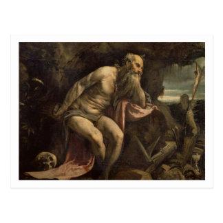 Carte Postale St Jerome, 1560s tôt (huile sur la toile)