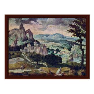 Carte Postale St Jerome dans un paysage par Massys Cornelis