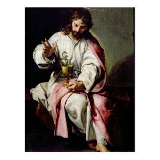 Carte Postale St John l'évangéliste et la tasse empoisonnée