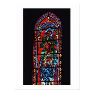 Carte Postale St John l'évangéliste montant les épaules d'Ez