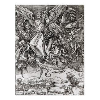Carte Postale St Michael et le dragon, d'un latin