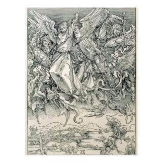 Carte Postale St Michael luttant avec le dragon