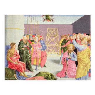 Carte Postale St Peter et Simon Magus, XVème siècle