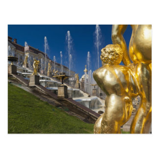 Carte Postale St Petersbourg, fontaines grandes 10 de cascade