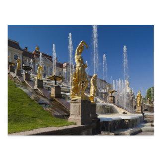 Carte Postale St Petersbourg, fontaines grandes 12 de cascade