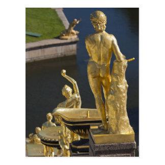 Carte Postale St Petersbourg, fontaines grandes 13 de cascade