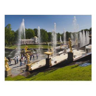 Carte Postale St Petersbourg, fontaines grandes 14 de cascade