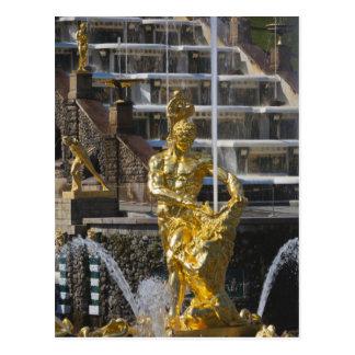 Carte Postale St Petersbourg, fontaines grandes 3 de cascade