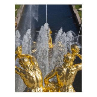 Carte Postale St Petersbourg, fontaines grandes 4 de cascade