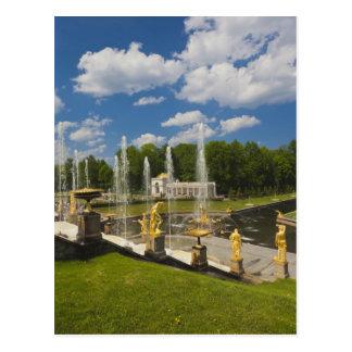 Carte Postale St Petersbourg, fontaines grandes 7 de cascade