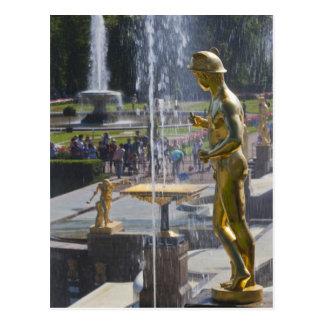 Carte Postale St Petersbourg, fontaines grandes 9 de cascade