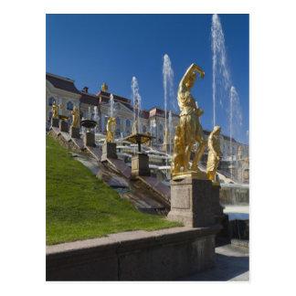Carte Postale St Petersbourg, fontaines grandes de cascade