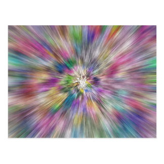 Carte Postale Starburst de couleur
