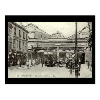 Carte postale - station de Brighton