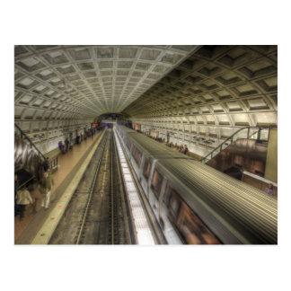 Carte Postale Station de train de métro de Washington DC