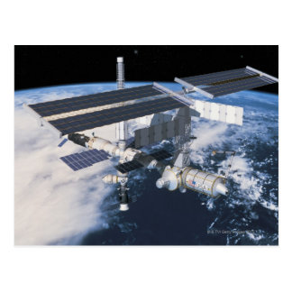 Carte Postale Station spatiale en orbite 9