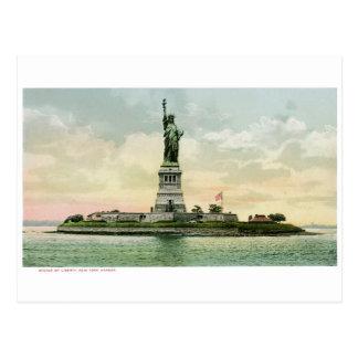 """Carte Postale """"Statue affiche vintage de liberté"""". New York."""
