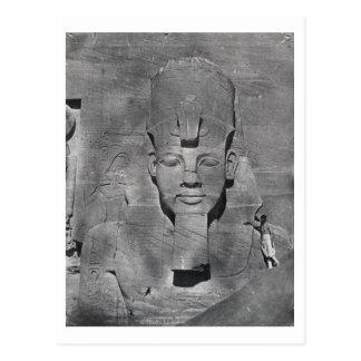 Carte Postale Statue colossale de Ramesses II chez Abu Simbel,